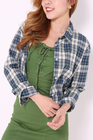 Plaid Shirt Blouse 4828
