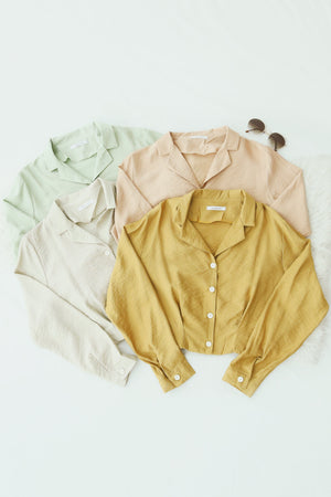 Button Down Shirt 4866 Tops