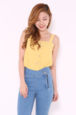 Button Down Strapy Top 4867