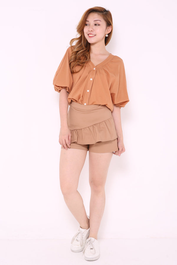 Ruched Layer Shorts 4768