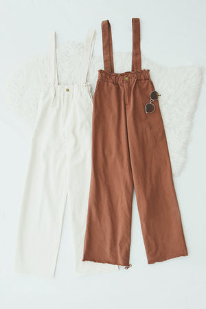 Wide Leg Suspender Pants 4872
