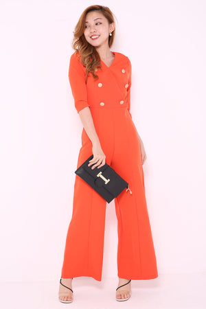 Wrap Double Breasted Jumpsuit 4884