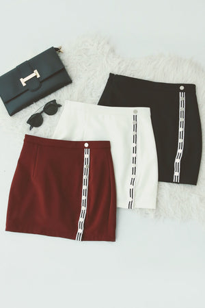 Stud Button Skirt Pants 4960
