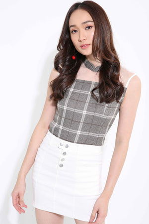 Checker Top 1144 - Ample Couture
