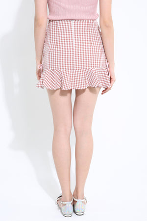 Checker Skirt Pant 1107