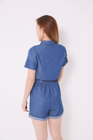 Denim Romper 4697 - ample-couture