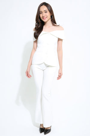 Button Up Top with Pant 1119 - Ample Couture