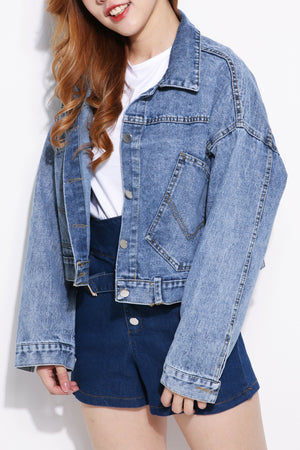 Front Pocket Denim Jacket 5062