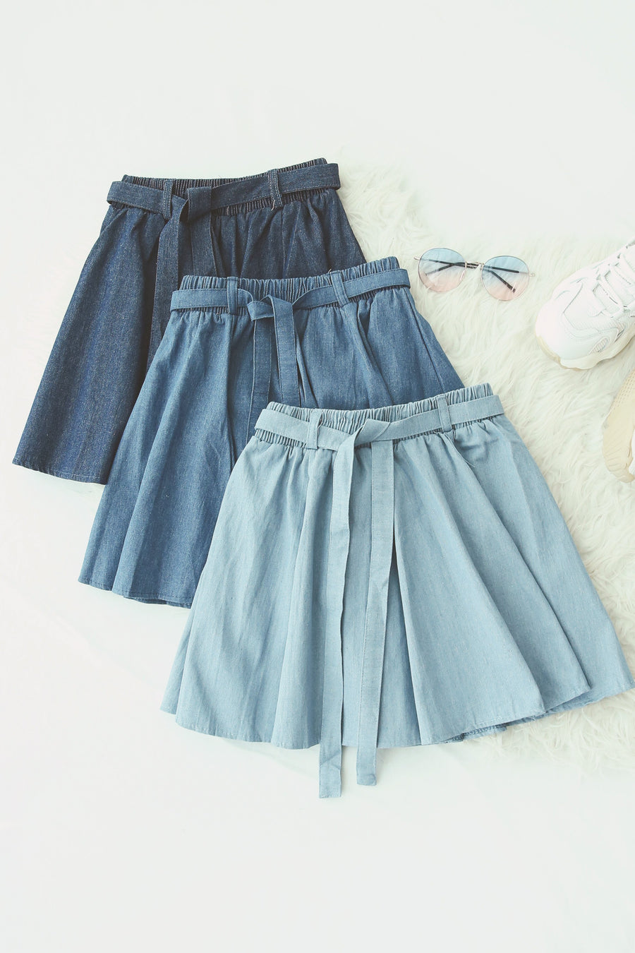 Flare Denim Short 5063