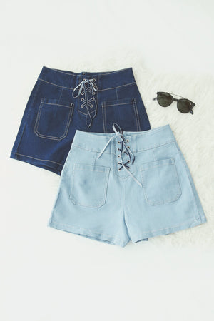 Front Ribbon Denim Short 5064