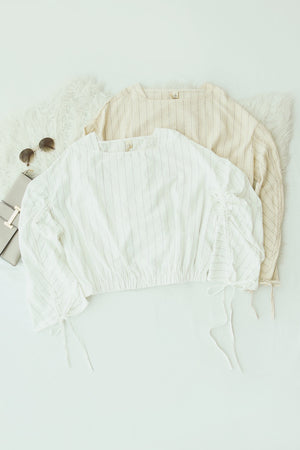 Square Neck Long Sleeve Top 5101 Tops