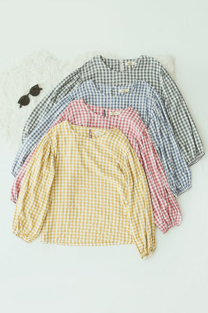 Checker Long Sleeve Top 5103