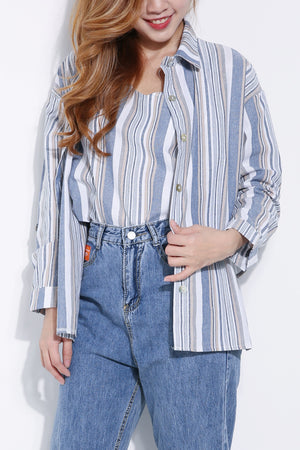 Two Pieces Stripe Top 5217