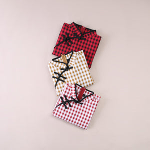 Gingham Checker Cheongsam 5476 Dresses