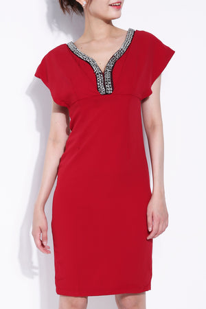 Diamond Neckline Dress 5497