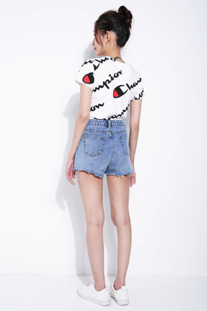 Denim Short Pants 5549