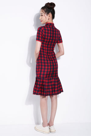Checker Cheongsam 5578 Dresses