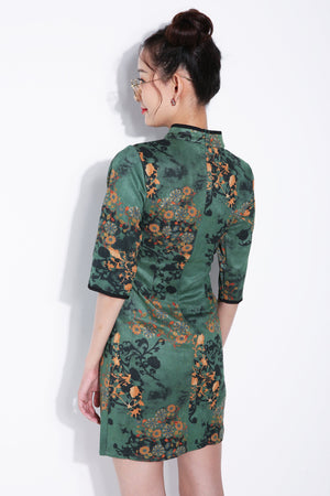 Flower Art Cheongsam 5586 Dresses