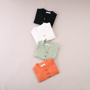 Sleeveless Polo Top 5626