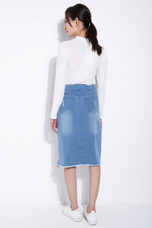 Denim Skirt 5693