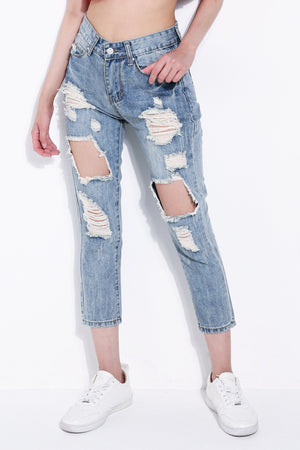 Denim Long Pants 5664