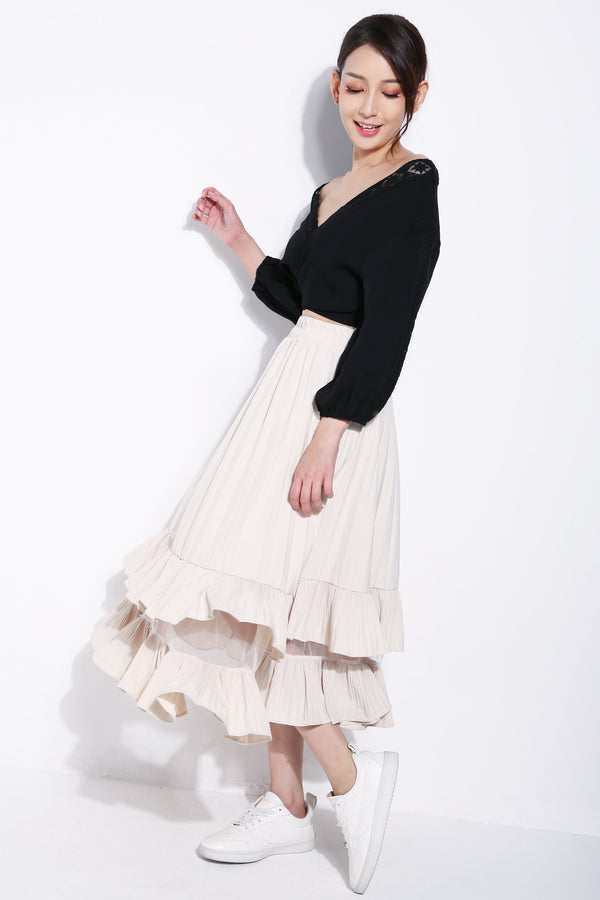 Pleated Layer Skirt 5705