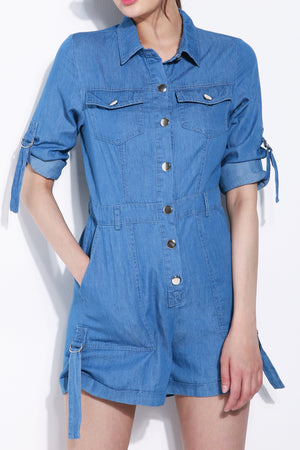 Denim Romper 5720