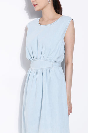 Sleeveless Denim Dress 5788