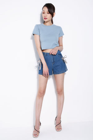 Cross Tie Denim Short 5859
