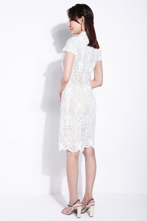 Butterfly Lace Cheongsam 5898