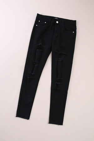 Hole Denim Long Pants 6011