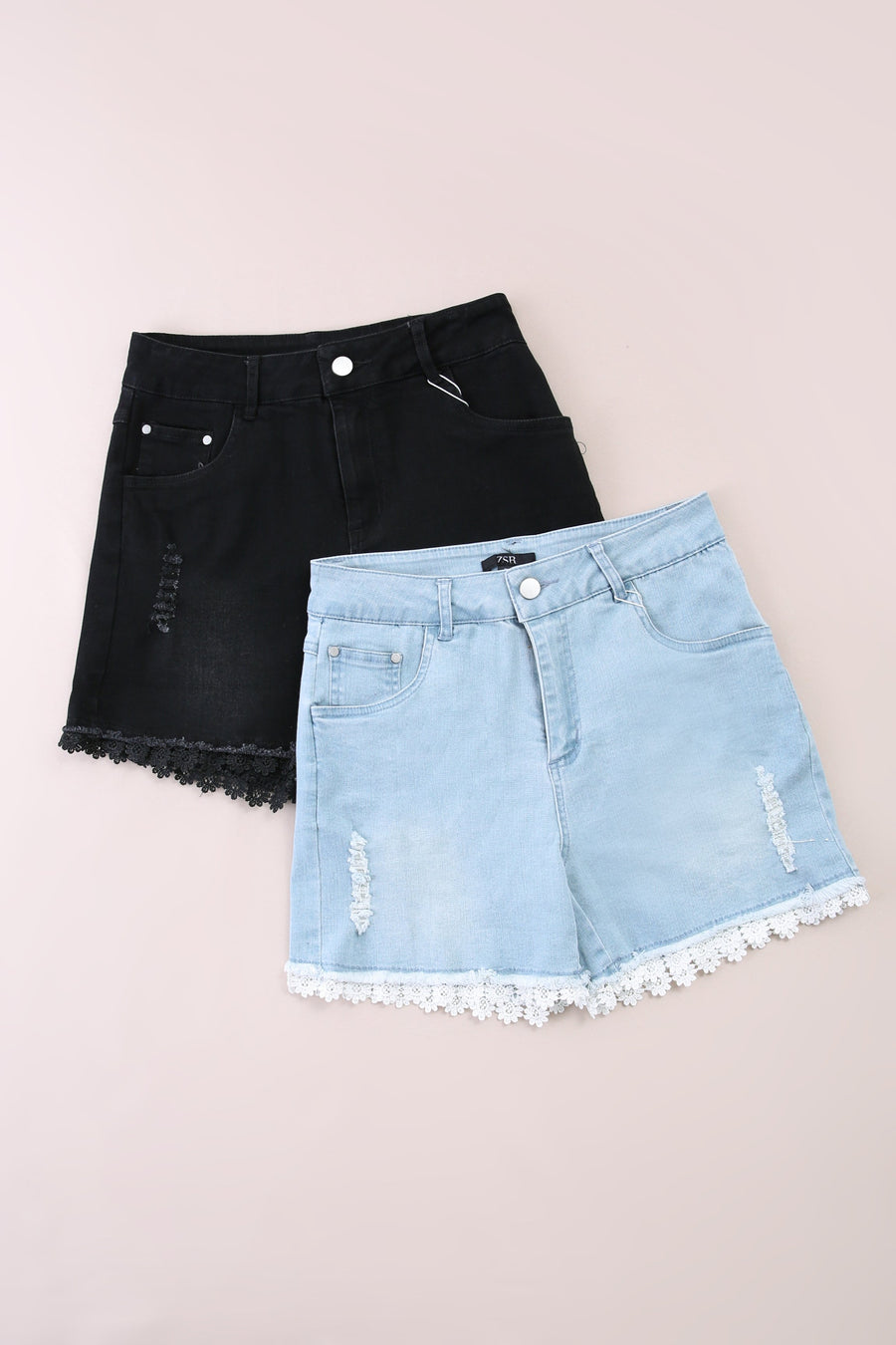 Denim Short Pants 6012