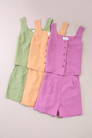 Sleeveless Top With Short Pants Set 6051 Sets