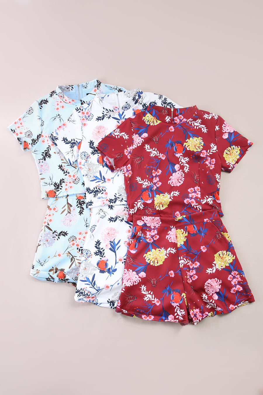 Flower Top with Short Pants 6080
