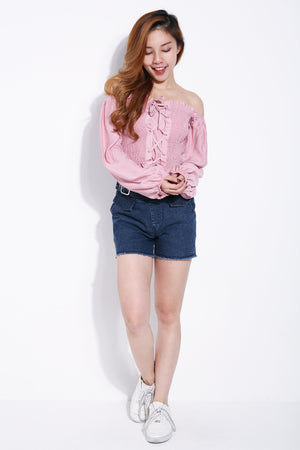 Denim Short Pants 6254