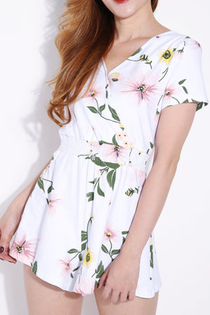 Flower Printed Playsuit 6256