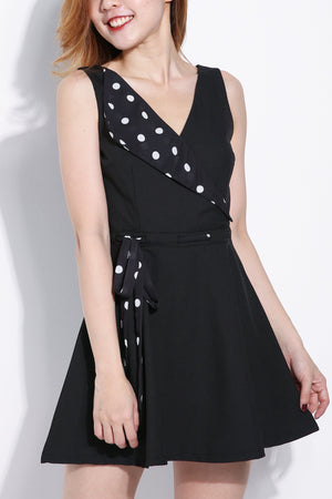 Polka Dot Collar Dress 6270 Dresses