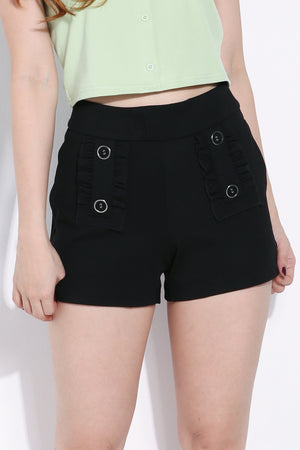 Button Short Pants 6277