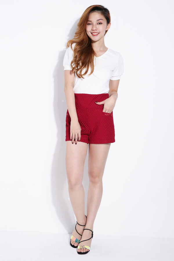 Chinese Button Short Pants 6284