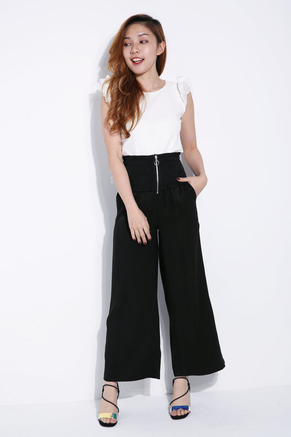 Rubber Waist Long Pants 6307