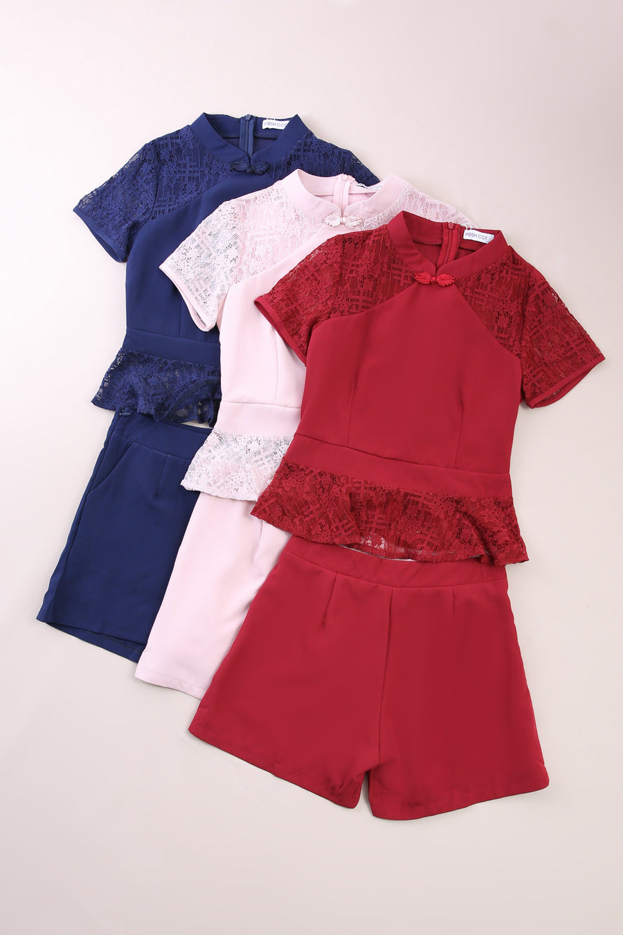 Cheongsam With Plain Short Pant Set 6670 Sets