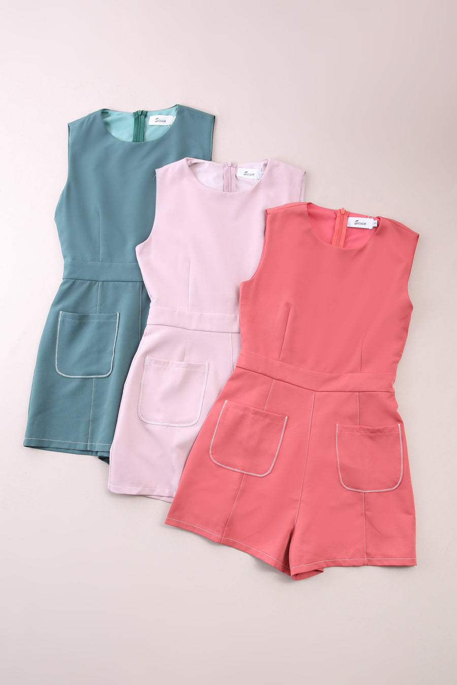Front Pocket Jumpsuit 6730