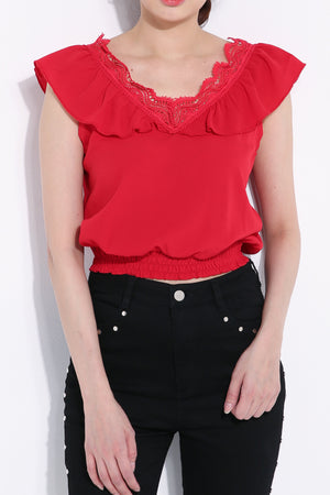 Rubber Waist Top 6772 Tops