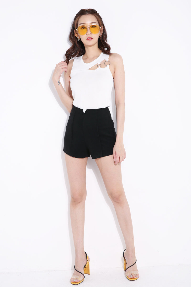 Plain Short Pant 6822A Bottoms