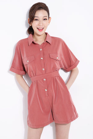 Front Button Jumpsuit 6892