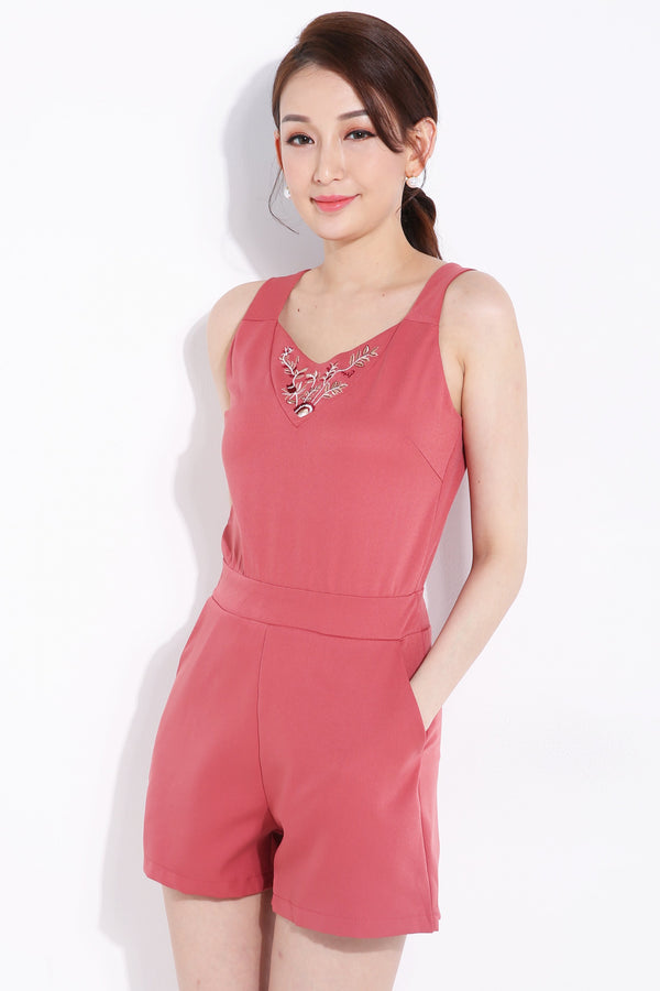 Leaf Neck Playsuit 6952