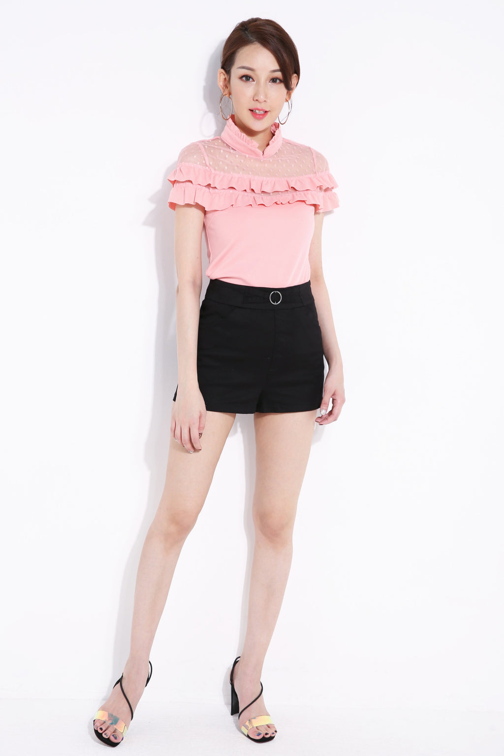 Buckle Ring Short Pant 6968 Bottoms