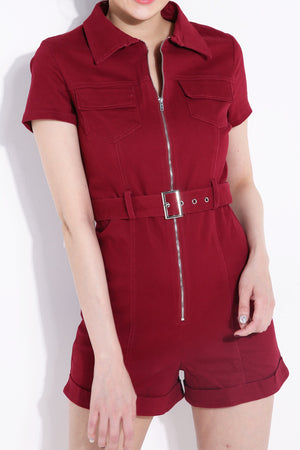 Front Zip Jumpsuit 6963