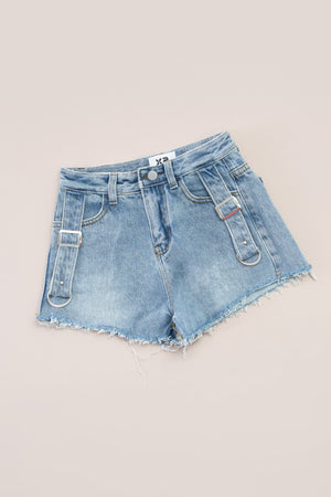 Denim Short Pants 7289