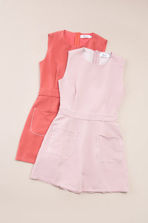 Front Pocket Romper 7344
